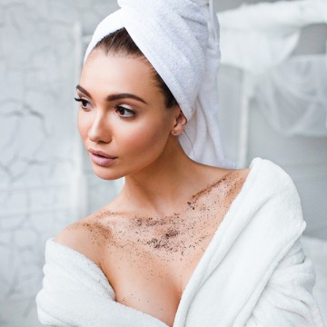 Almea Ltd., Великобритания Wake Up Coffee scrub Coconut | Рост Ресниц