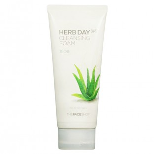 The Face Shop, Южная Корея The Face Shop Herb Day 365 Cleansing Foam Aloe | Рост Ресниц