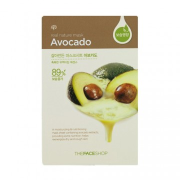 The Face Shop, Южная Корея The Face Shop Real Nature Mask Sheet Avocado | Рост Ресниц
