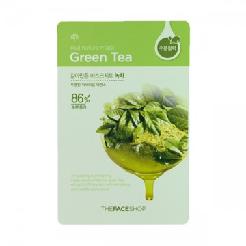 The Face Shop, Южная Корея The Face Shop Real Nature Mask Sheet Green Tea | Рост Ресниц