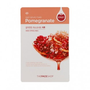 The Face Shop, Южная Корея The Face Shop Real Nature Mask Sheet Pomegranate | Рост Ресниц