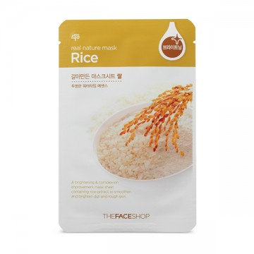 The Face Shop, Южная Корея The Face Shop Real Nature Mask Sheet Rice | Рост Ресниц